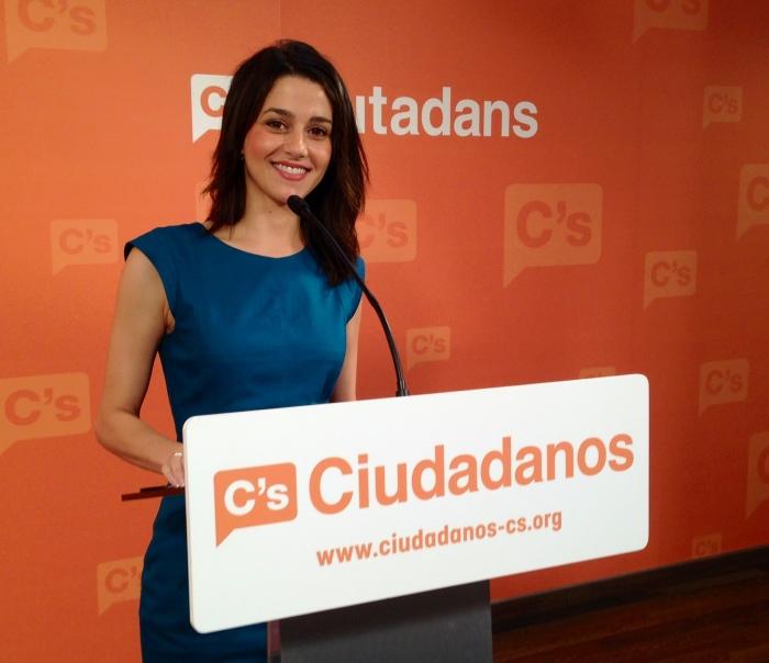 20140623 - Inés Arrimadas roda de premsa seu C's