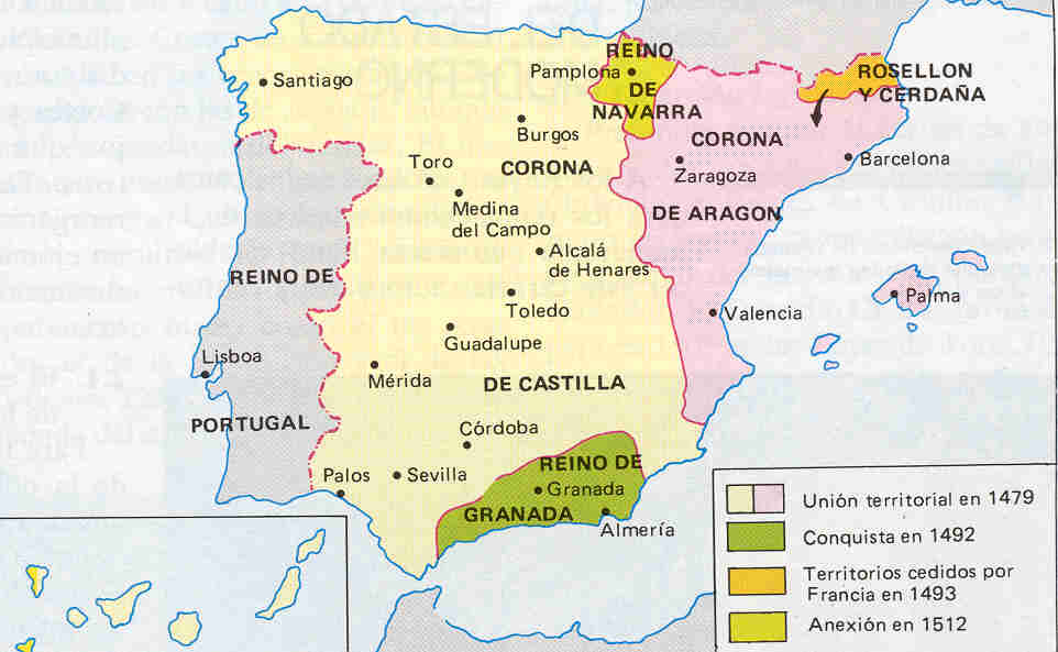 Mapa España Siglo Xv.Mapa Espana Siglo Xv La Realidad