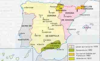 mapa españa siglo xv
